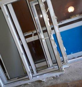Пластиковые окна и балконая дверь