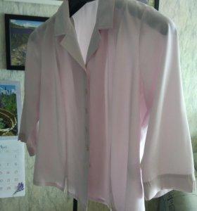 Блуза нежно-розовая