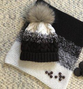 Комплект зимний шапка/снуд