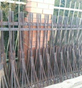 Забор из 6,5 секций