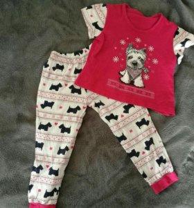 Пижама для девочки на рост 98-104