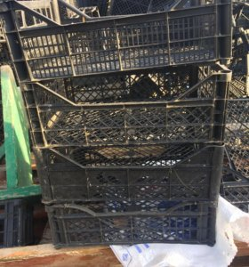 Пластмассовые ящике под персик и под черешню