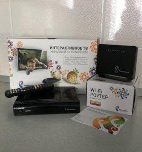 Тв-приставка и wi-Fi роутер
