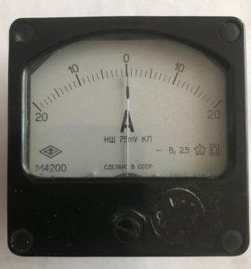 Амперметр М4200 НШ 75mV КП постоянного тока 20А
