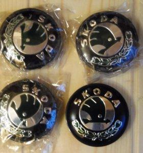 Заглушки на литые диски Шкода