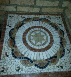 Мозаика из камня 66х66 (Италия.)