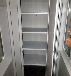 Шкаф на лоджию и балкон из пластика