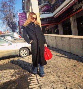 Стильное Пальто чёрное размер S