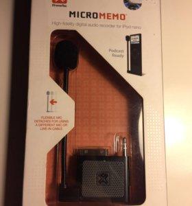 Насадка для iPod диктофон микрофон