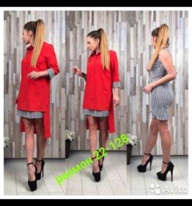 Платье двойка 42 р новое
