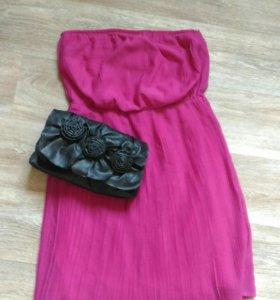 Платье плиссе 42 р-р