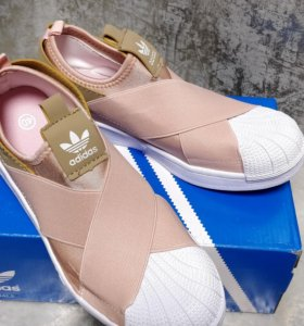 adidas Superstar Slip On W Scarpa rosa bianco