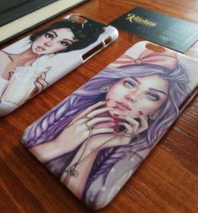 Печать на чехлах 3D iphone 5,6,6+,7,8,X