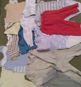 Пакет вещей на мальчика от 0 до 6 месяцев