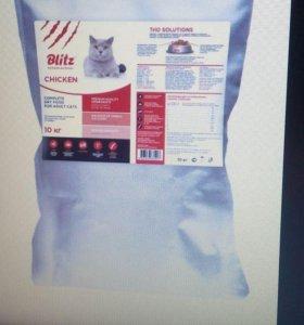 Корм для кошек Blitz со вкусом курицы