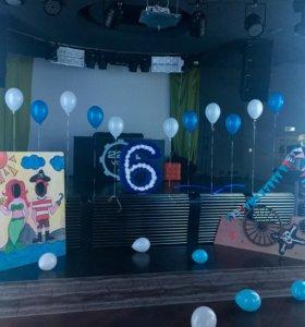 Декорации пиратской вечеринки и цифра 6