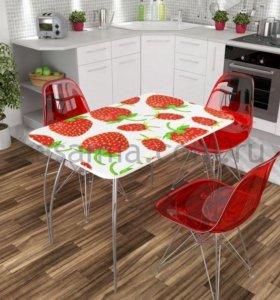 Кухонные столы, стекло