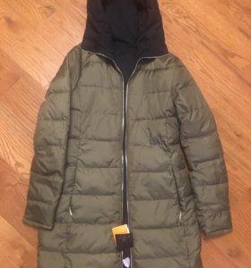 Новая двухсторонняя куртка-парка massimo dutti