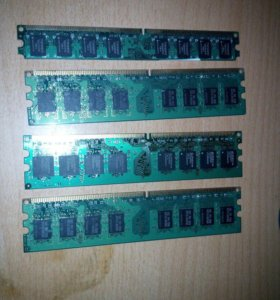 Оперативная память DDR2 1 GB (3 шт) DDR2 2 GB (1)