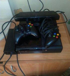 Xbox 360 +кинект+12дисков