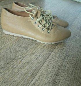 Женские горчичные туфли