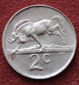 ЮАР . 2 цента . 1981 г