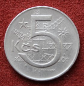 Чехословакия . 5 крон . 1969 г