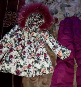 Зимний пуховик и куртка
