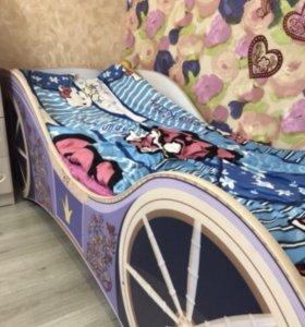 Кровать детская «Карета» для девочки