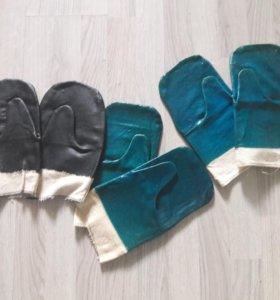 Прорезиненные рабочие  рукавицы