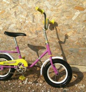 Велосипед мишка дутик