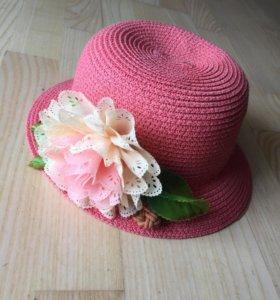 Шляпка с цветком летняя для девочки