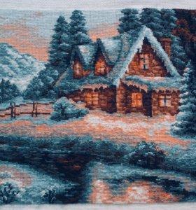 Вышивка крестом «Зимний пейзаж» фирма Риолис.