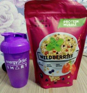 Шейкер +протеиновые мюсли