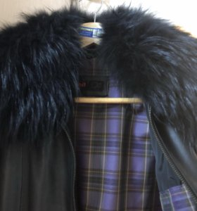Кожаная куртка с натур мехом