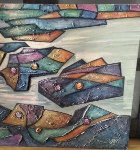 """Картина """"Океан"""",масло,холст"""