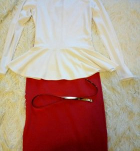 Костюм женский (юбка+кофта+ремешок)
