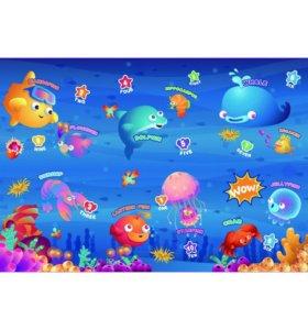 Развивающий коврик для ползания океан