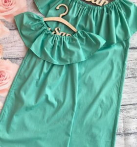 Комплект платьев с воланом Мама и доча