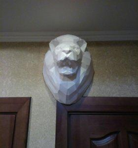 Трофейная голова льва