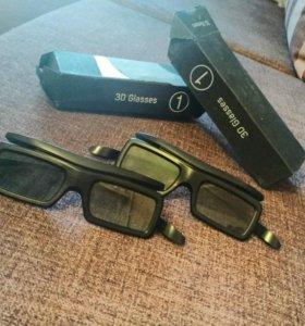 3Д очки (электроника, на батарейках)