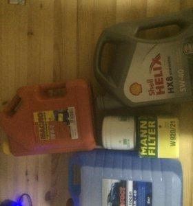 Масло, тосол, промывочное масло, фильтр масленный