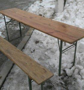 Стол и скамейки складные