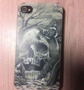Задний бампер (чехол) на iPhone 4S (череп)