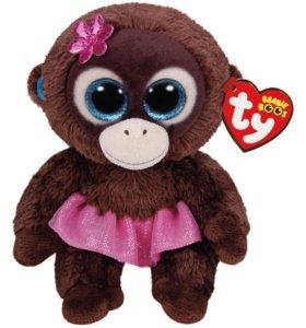 Новая мягкая игрушка обезьянка beanie boos ty