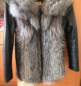 Меховая куртка жилетка