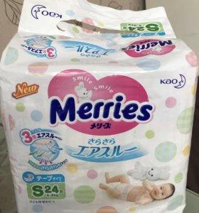 Подгузники Merries S 4-8 кг