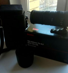 Телеобъектив Sigma 150-500mm f/5-6.3 HSM Canon