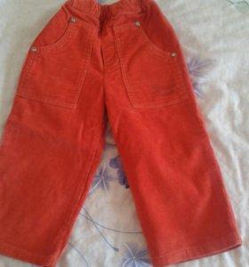 Вельветовые брюки на мальчика на 2 года