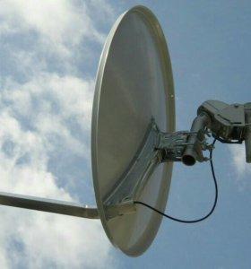 Спутниковая антенна с мотоподвесом